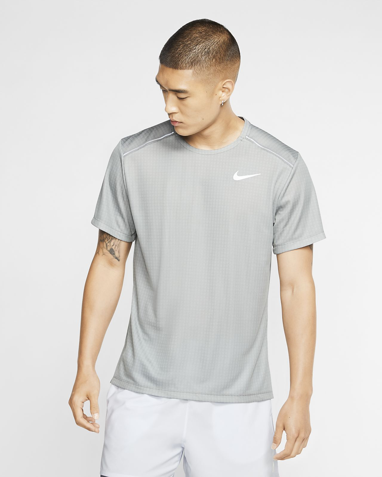 Parte superior de running de manga corta para hombre Nike Miler