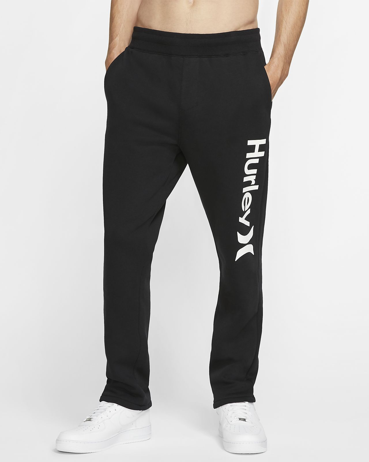 Pantalones de entrenamiento de tejido Fleece para hombre Hurley Surf Check One And Only