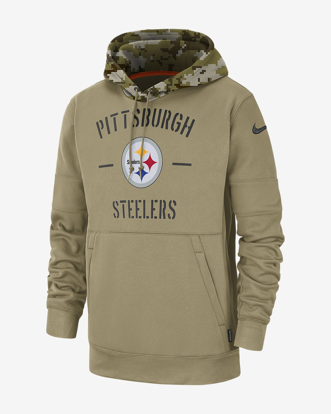 Nike Therma Salute to Service (NFL Steelers) Men's Hoodie