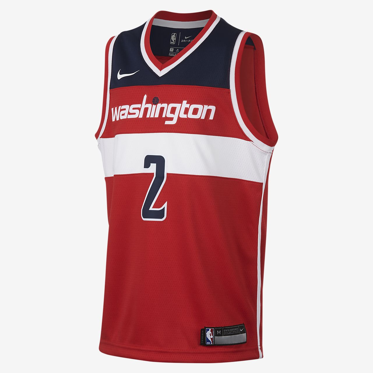 size 40 7d602 d31ec John Wall Washington Wizards Nike Icon Edition Swingman Big Kids' NBA Jersey