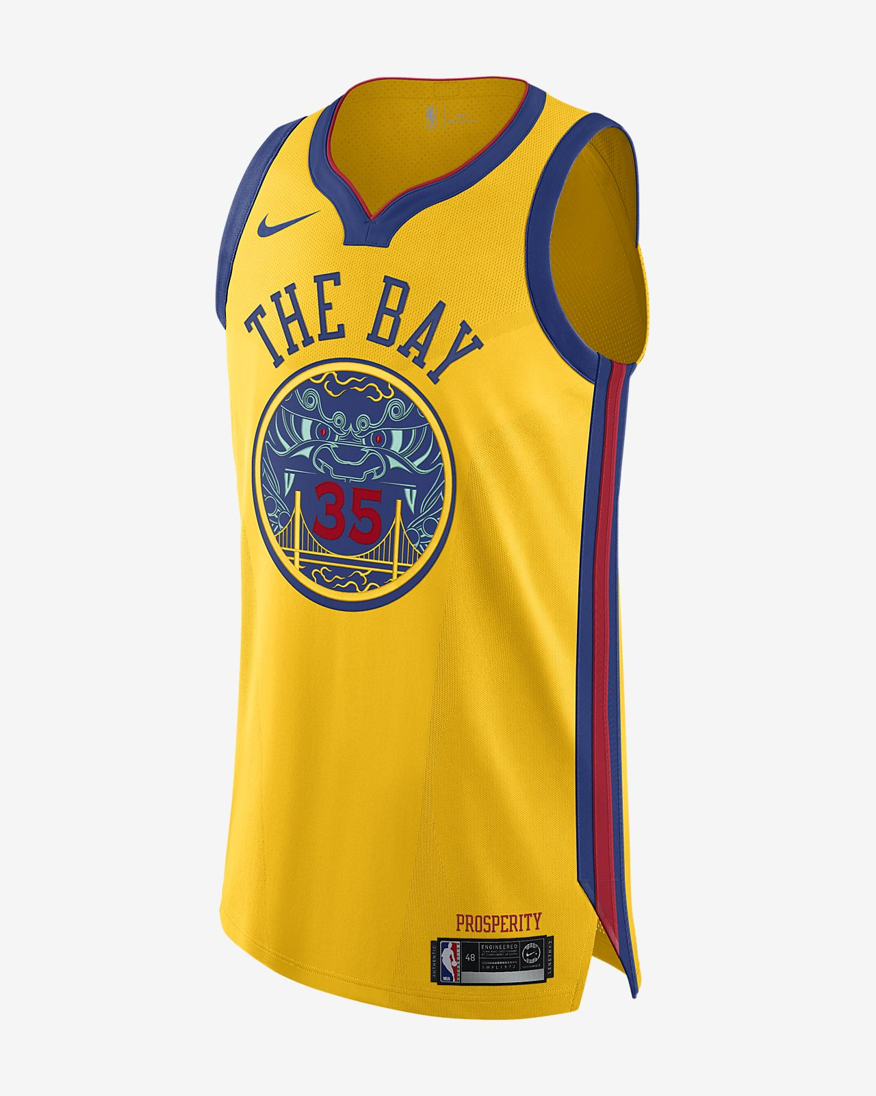 Kevin Durant City Edition Authentic Jersey Golden State Warriors Mens Nike Nba Connected Jersey
