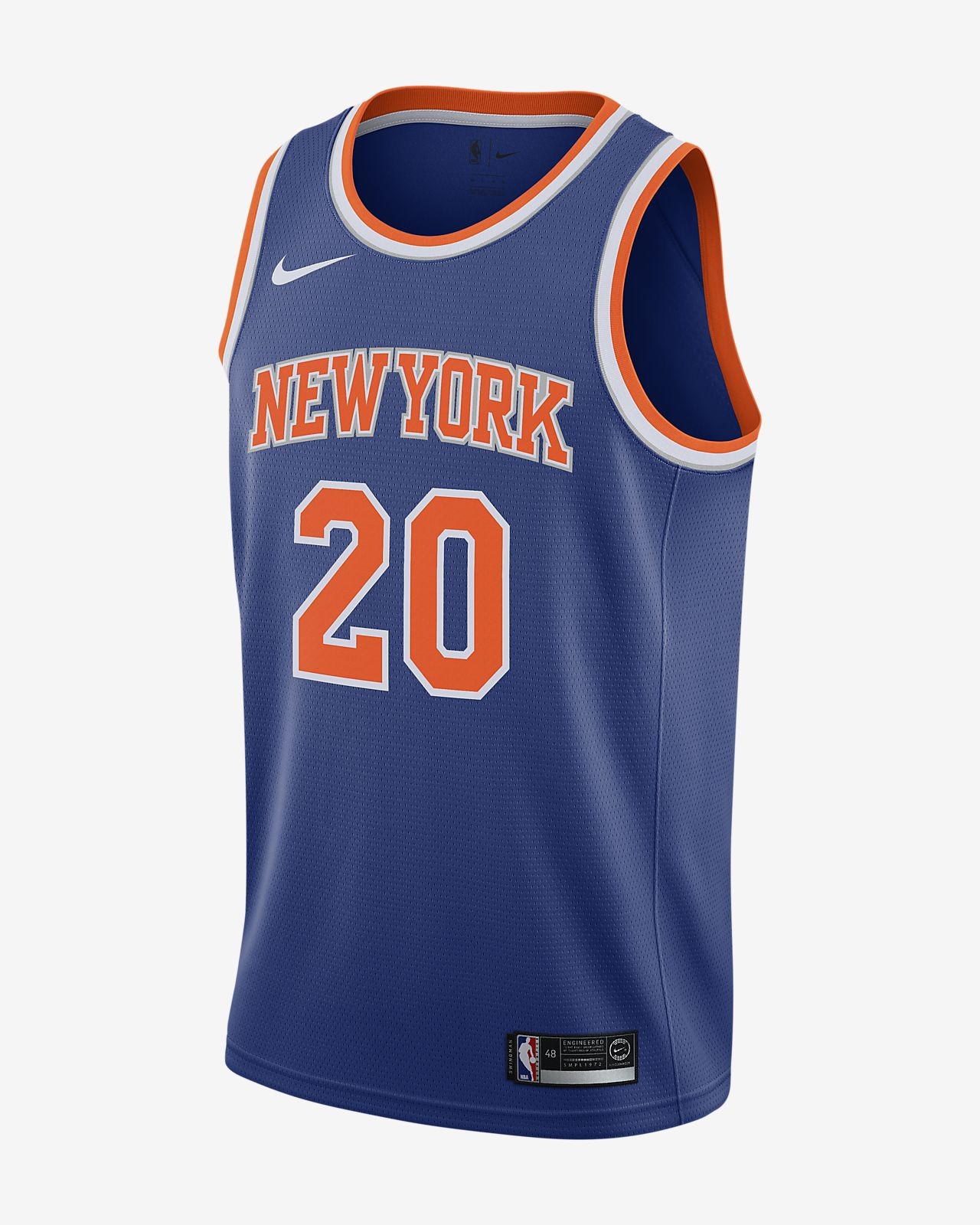 2a53058f4c67 Men s Nike NBA Connected Jersey. Kevin Knox Icon Edition Swingman (New York  Knicks)