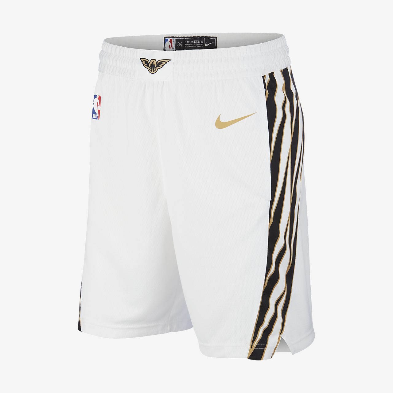 differently 3b1e4 0f365 Spodenki męskie Nike NBA Atlanta Hawks City Edition Swingman