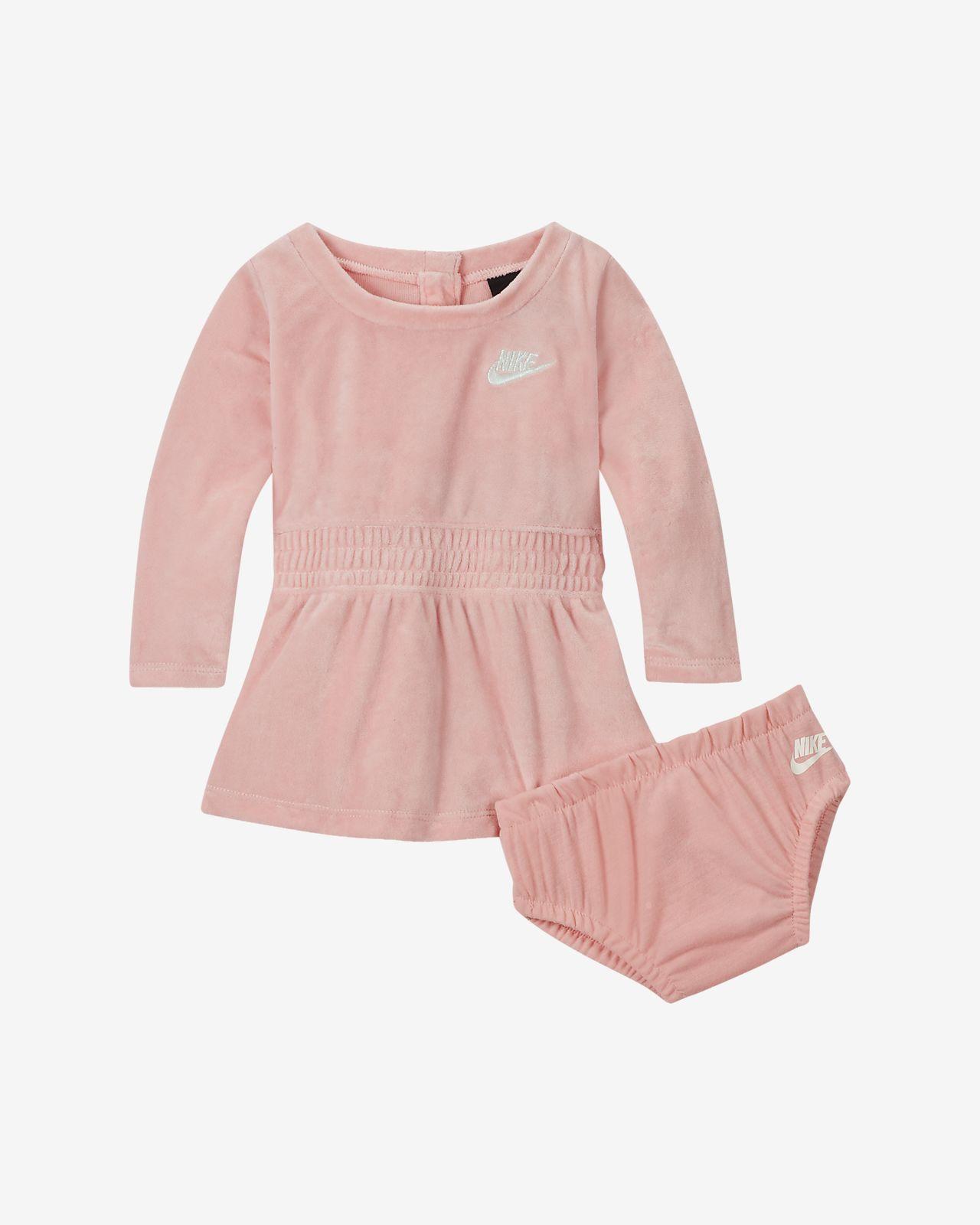 Nike Sportswear Baby (0–9M) Long-Sleeve Velour Dress