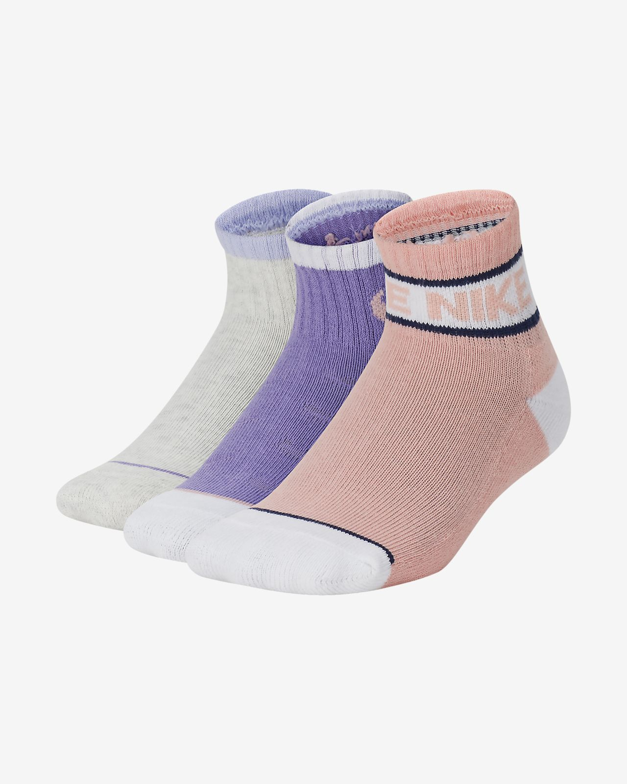 Nike Little Kids' Cushioned Ankle Socks (3 Pairs)