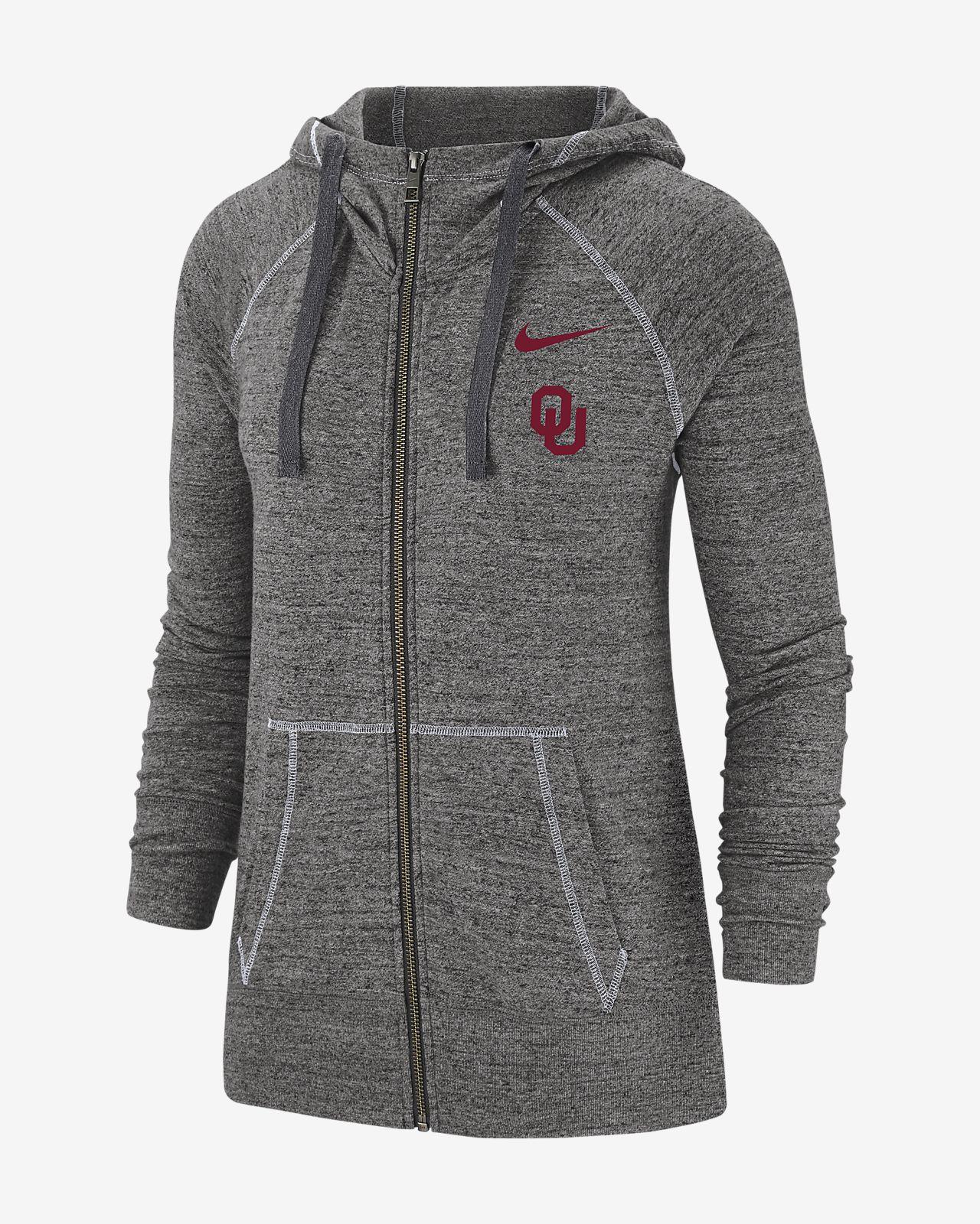 Nike College Gym Vintage (Oklahoma) Women's Full-Zip Hoodie
