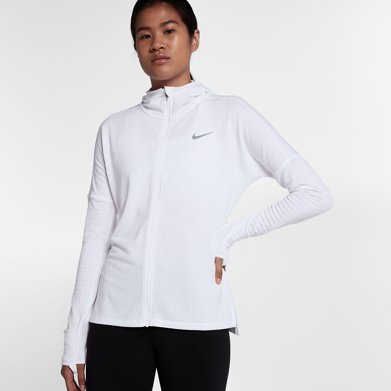 Women's Vest - Nike Pro Hyperwarm Half-Zip - White/Black : M12h5838