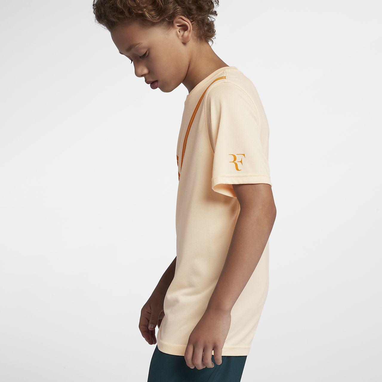 d1030332647 NikeCourt Dri-FIT RF Older Kids' (Boys') Tennis T-Shirt. Nike.com CA