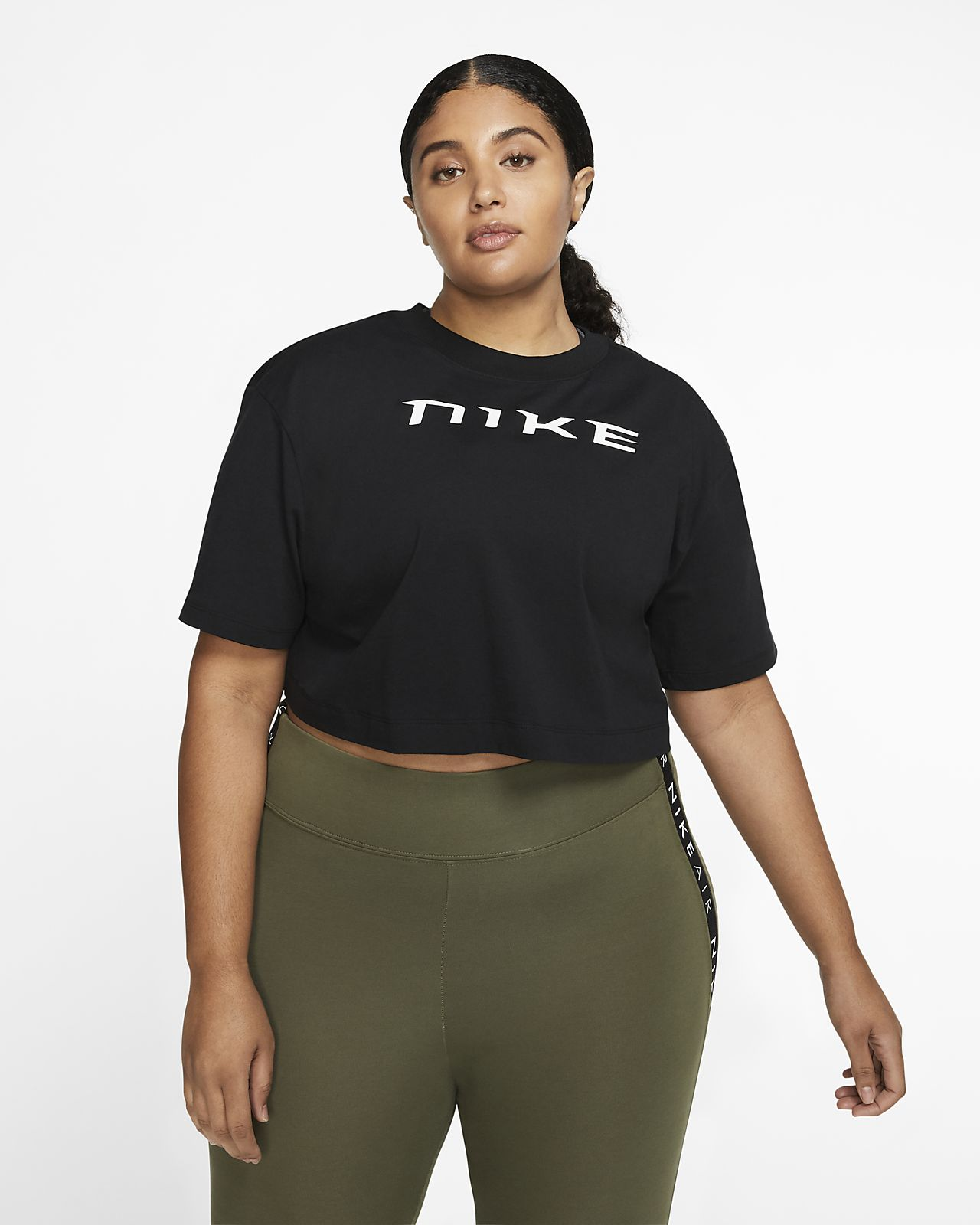 Nike Sportswear Women's Short-Sleeve Crop Top (Plus Size)