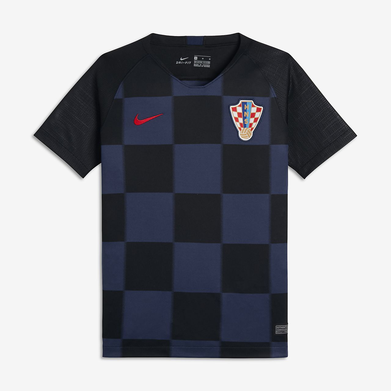 Camiseta de fútbol para niños talla grande 2018 Croatia Stadium Away