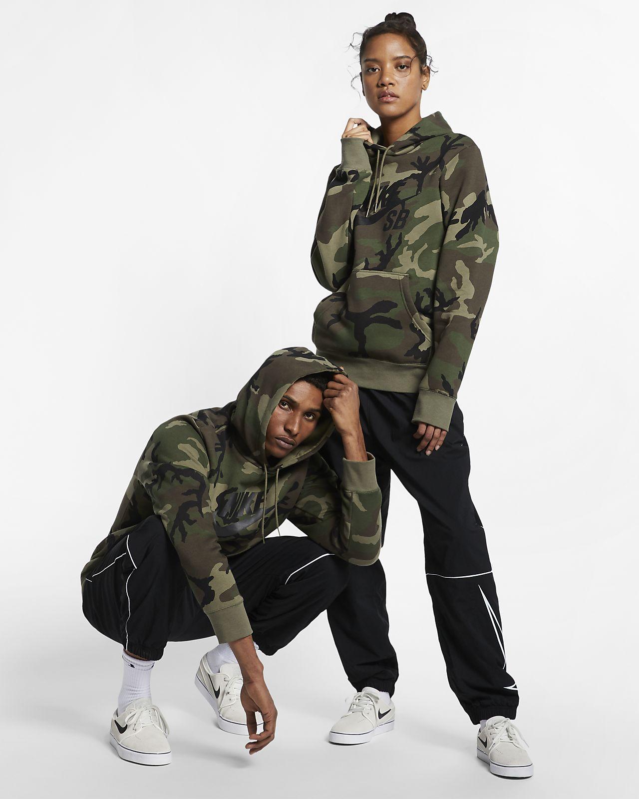 Nike SB Icon Camo Hoodie | Camo hoodie, Hoodies, Nike sb