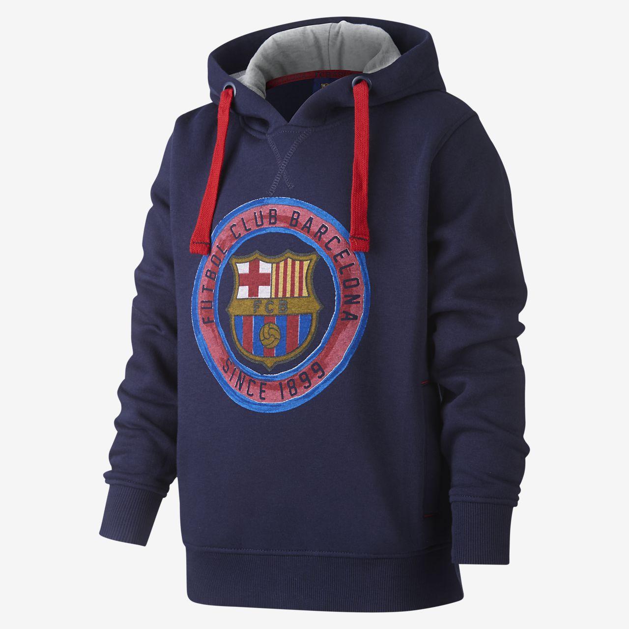 Μπλούζα με κουκούλα FC Barcelona για μεγάλα παιδιά