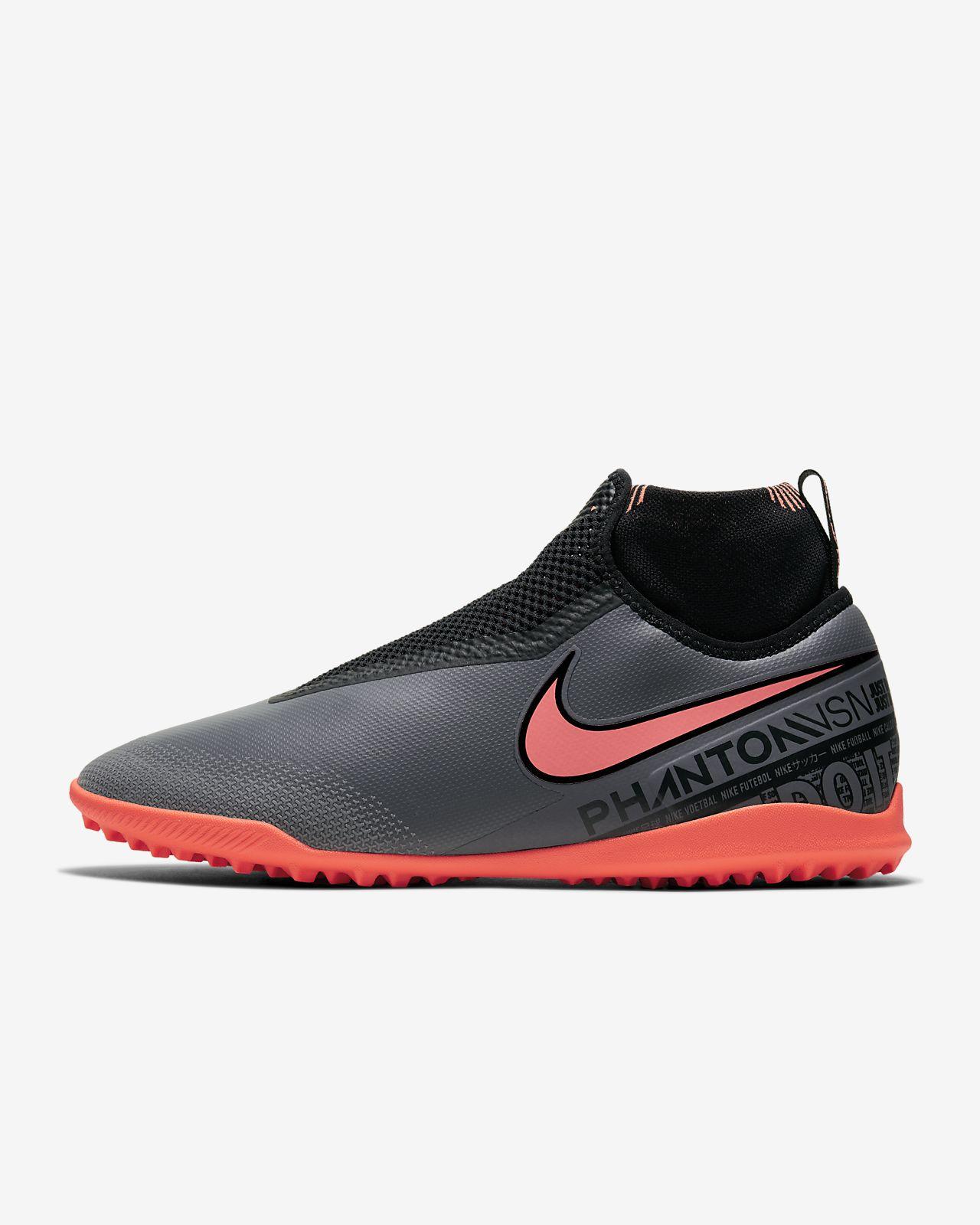 Nike React Phantom VSN Pro DF TF暗煞系列男/女人造场地足球鞋