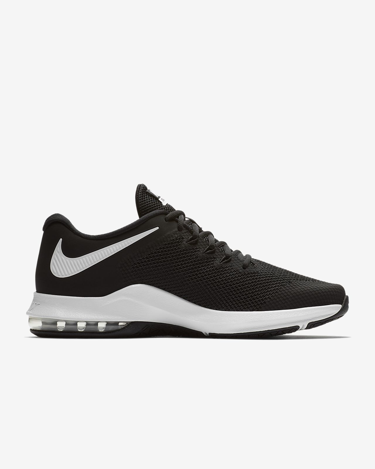 Nike Performance AIR MAX ALPHA TRAINER - Sports shoes - black/white