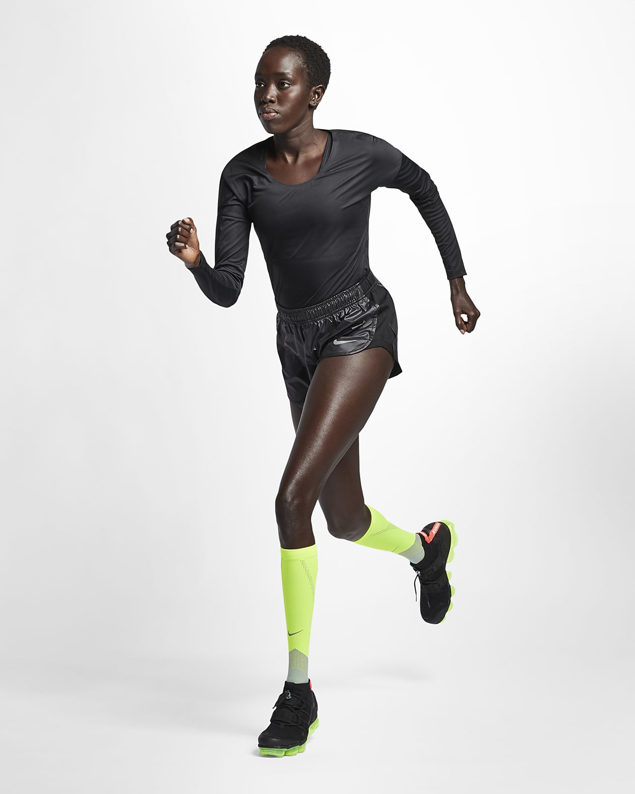 nueva temporada envío complementario patrones de moda Nike City Sleek Women's Long-Sleeve Running Top. Nike LU