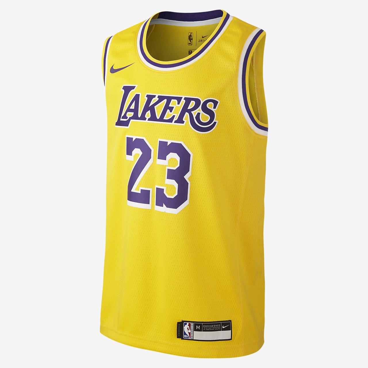 LeBron James Los Angeles Lakers Nike Icon Edition Swingman NBA-s mez nagyobb gyerekeknek