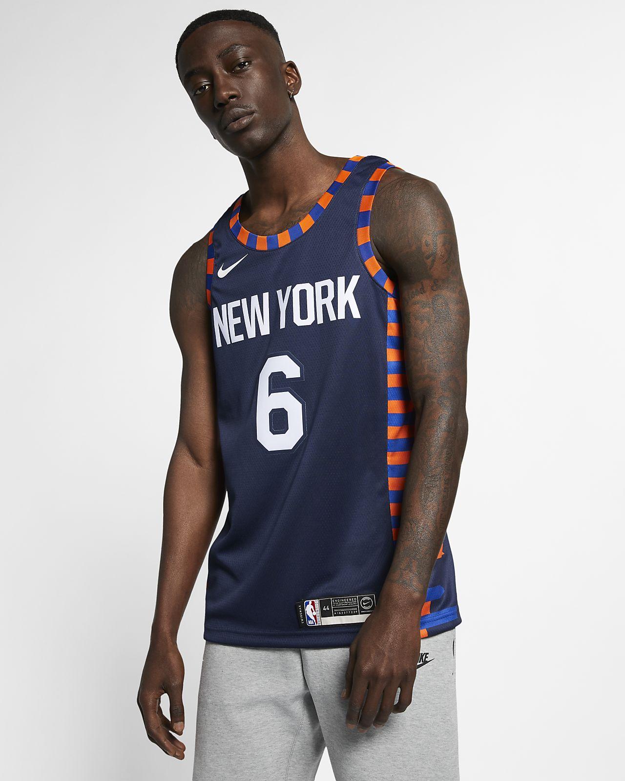 Kristaps Porzingis City Edition Swingman (New York Knicks) 男款 Nike NBA Connected Jersey
