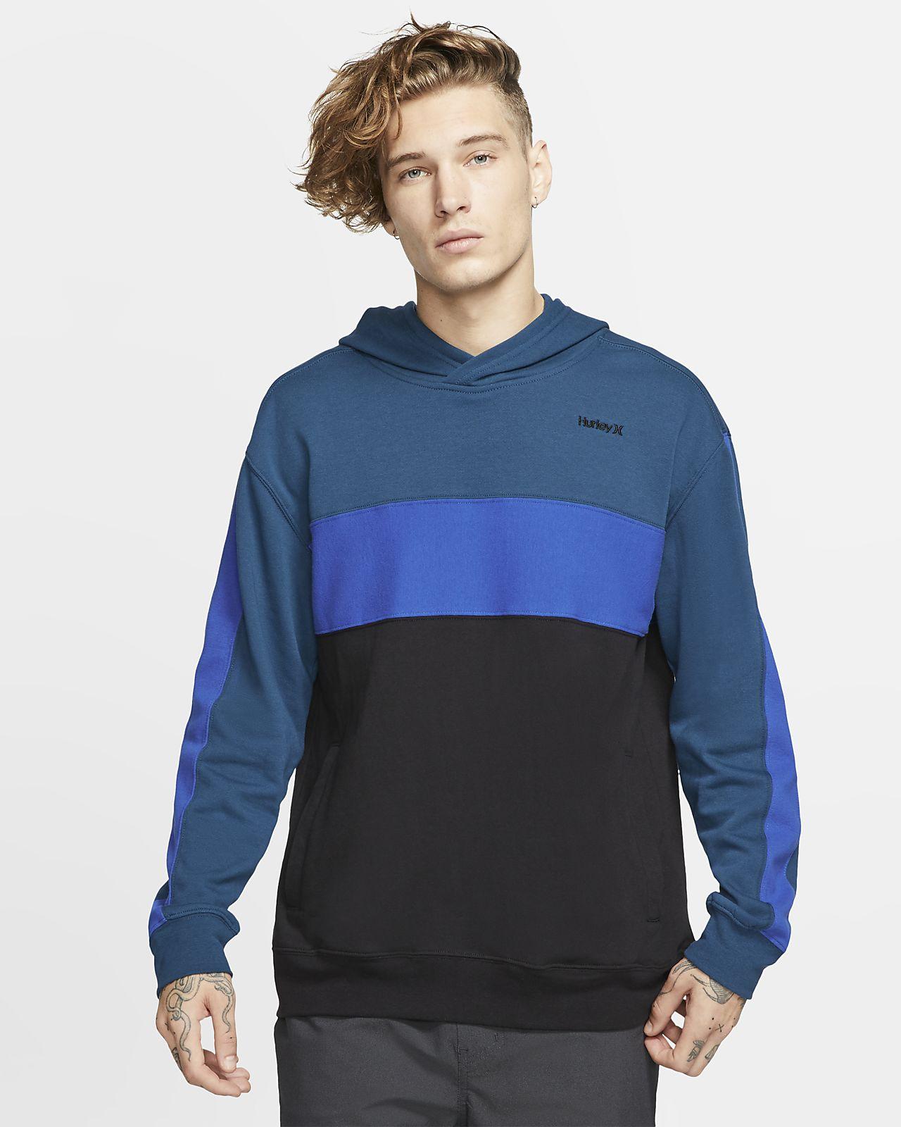 Hurley Blocked-pullover-hættetrøje i fleece til mænd