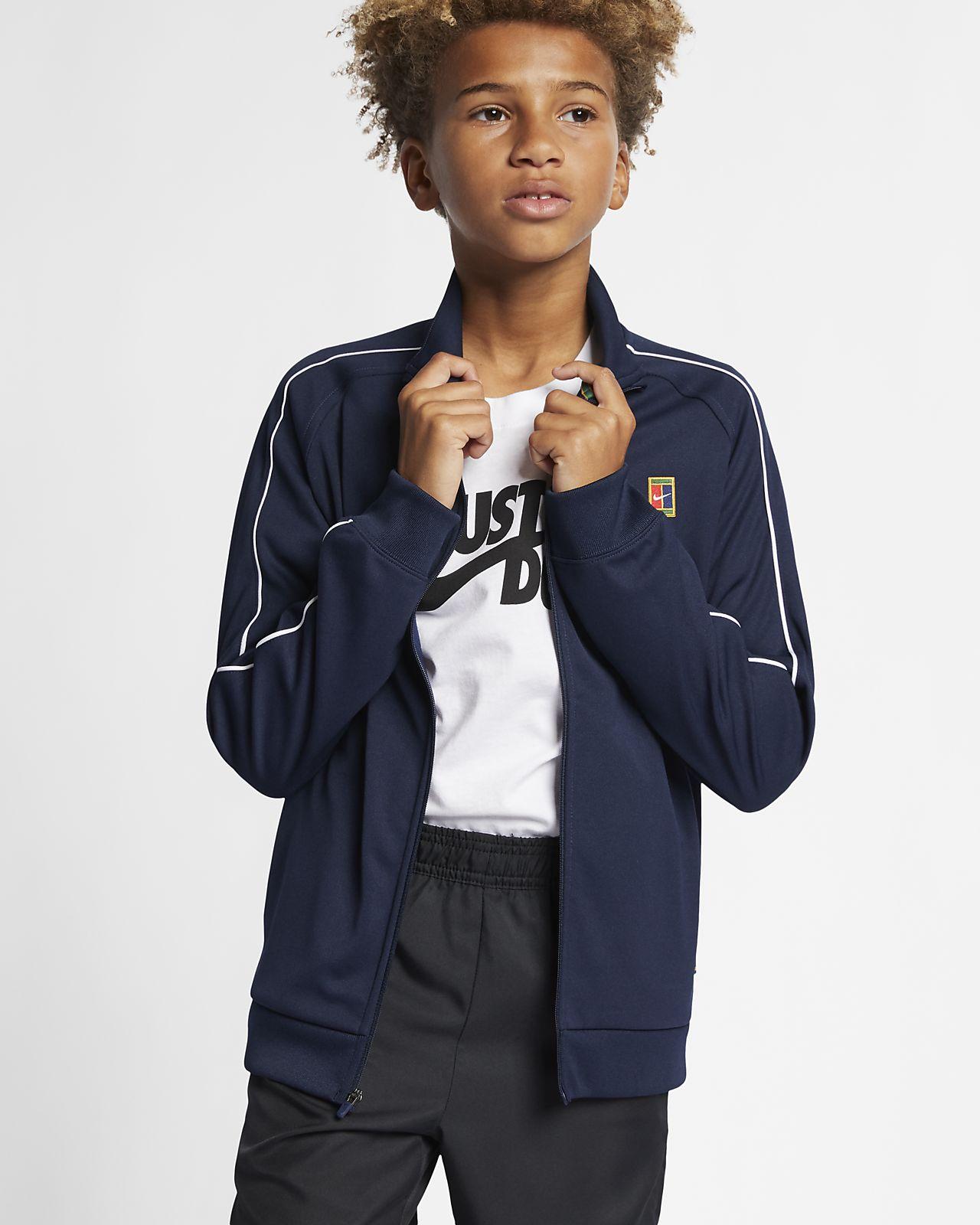 9c34feea7 NikeCourt Boys' Tennis Warm-Up Jacket. Nike.com NO