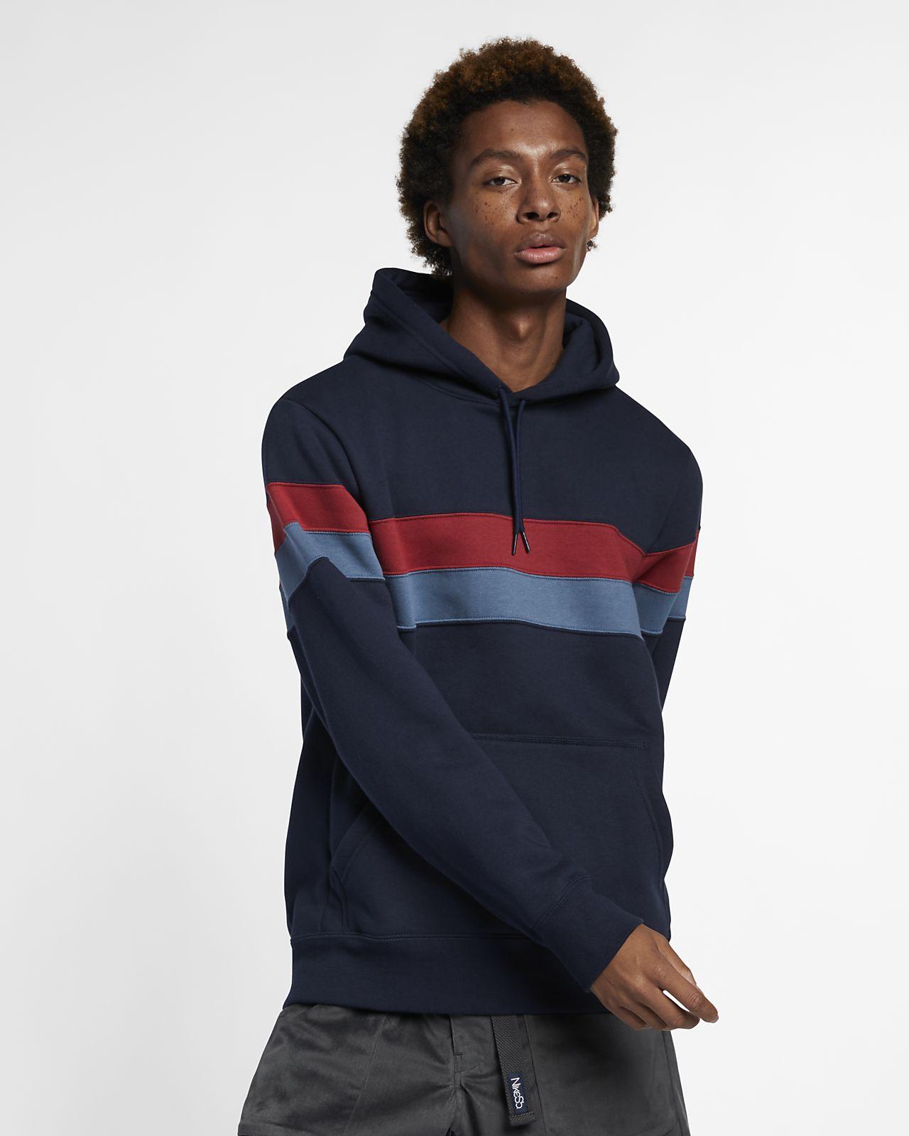 Nike SB Icon Çizgili Kapüşonlu Kaykay Üstü
