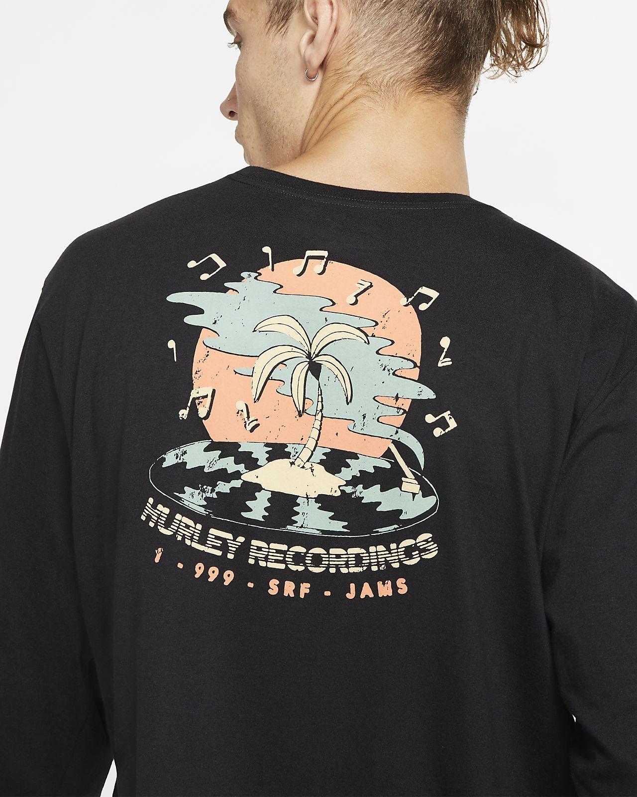 Hurley Premium Record Palms Men's Long Sleeve T Shirt