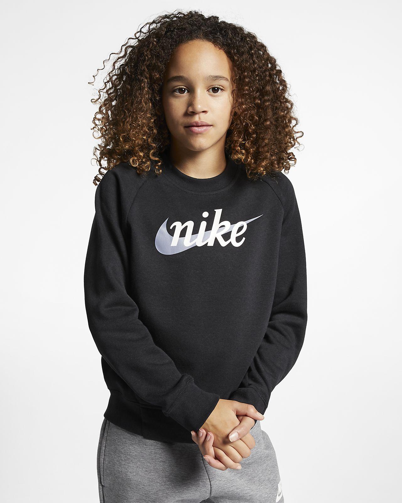 Nike Sportswear Girls' Graphic Crew