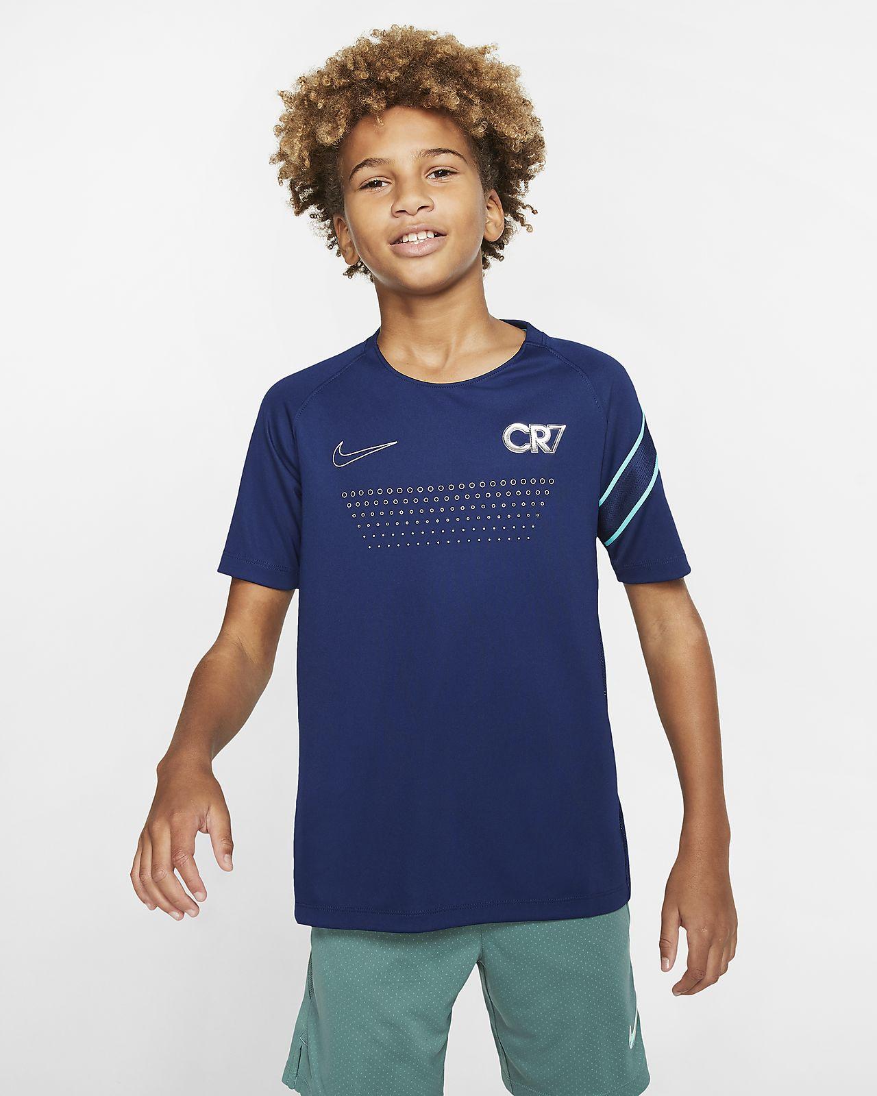 Nike Dri-FIT CR7 Voetbaltop met korte mouwen voor kids