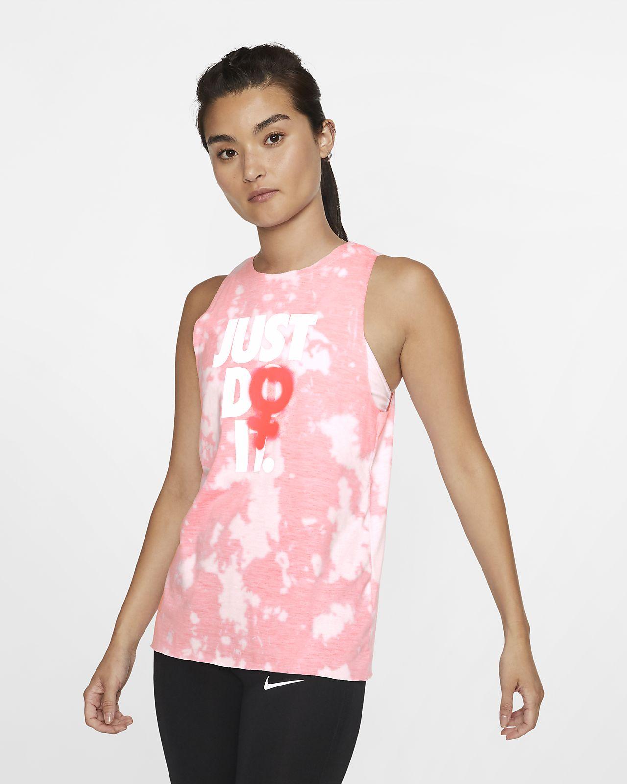 เสื้อกล้ามเทรนนิ่งแขนกุดผู้หญิง Nike