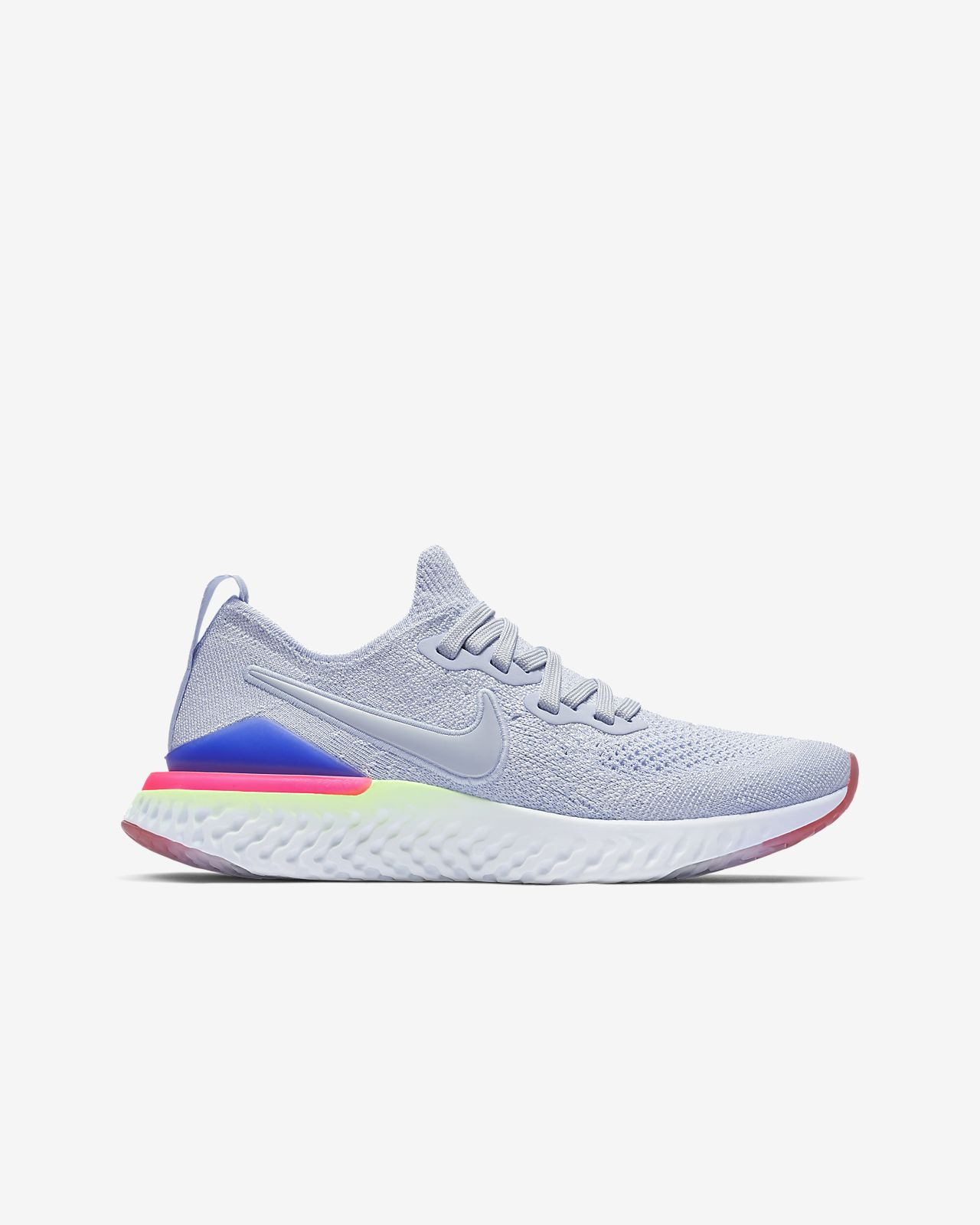 d0320aba34f3e Nike Epic React Flyknit 2 Big Kids  Running Shoe. Nike.com