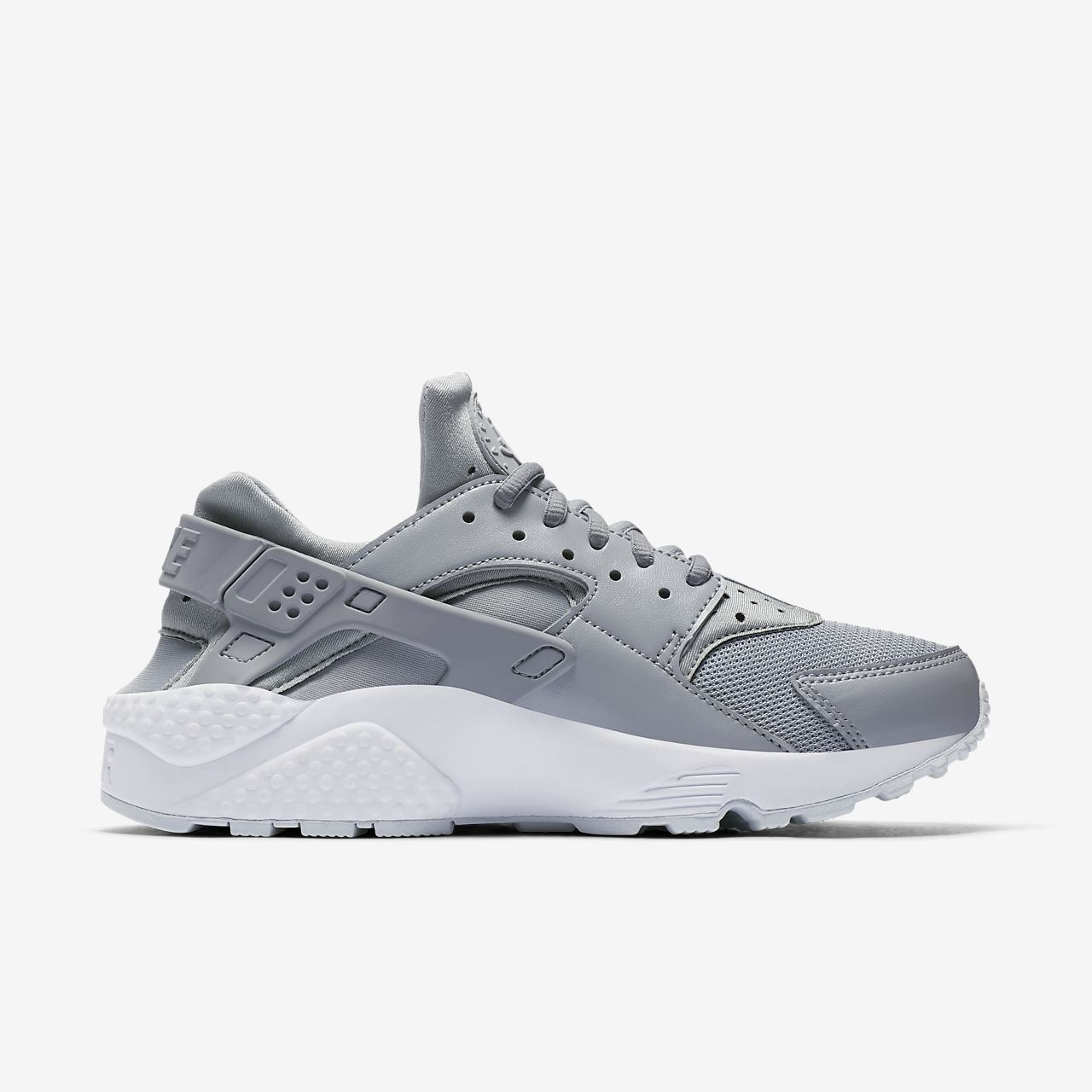 Nike Youth Huarache Drift Wolf Grey White Textile Trainers 38.5 EU VfhEz1yR