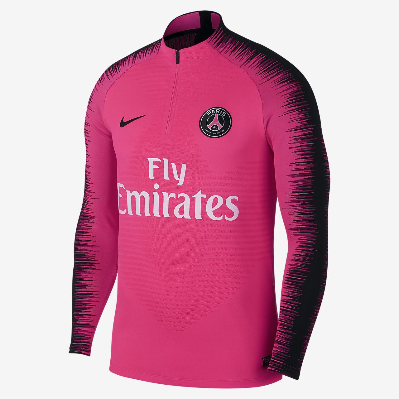 Pánské fotbalové tričko s dlouhým rukávem Paris Saint-Germain VaporKnit Strike Drill