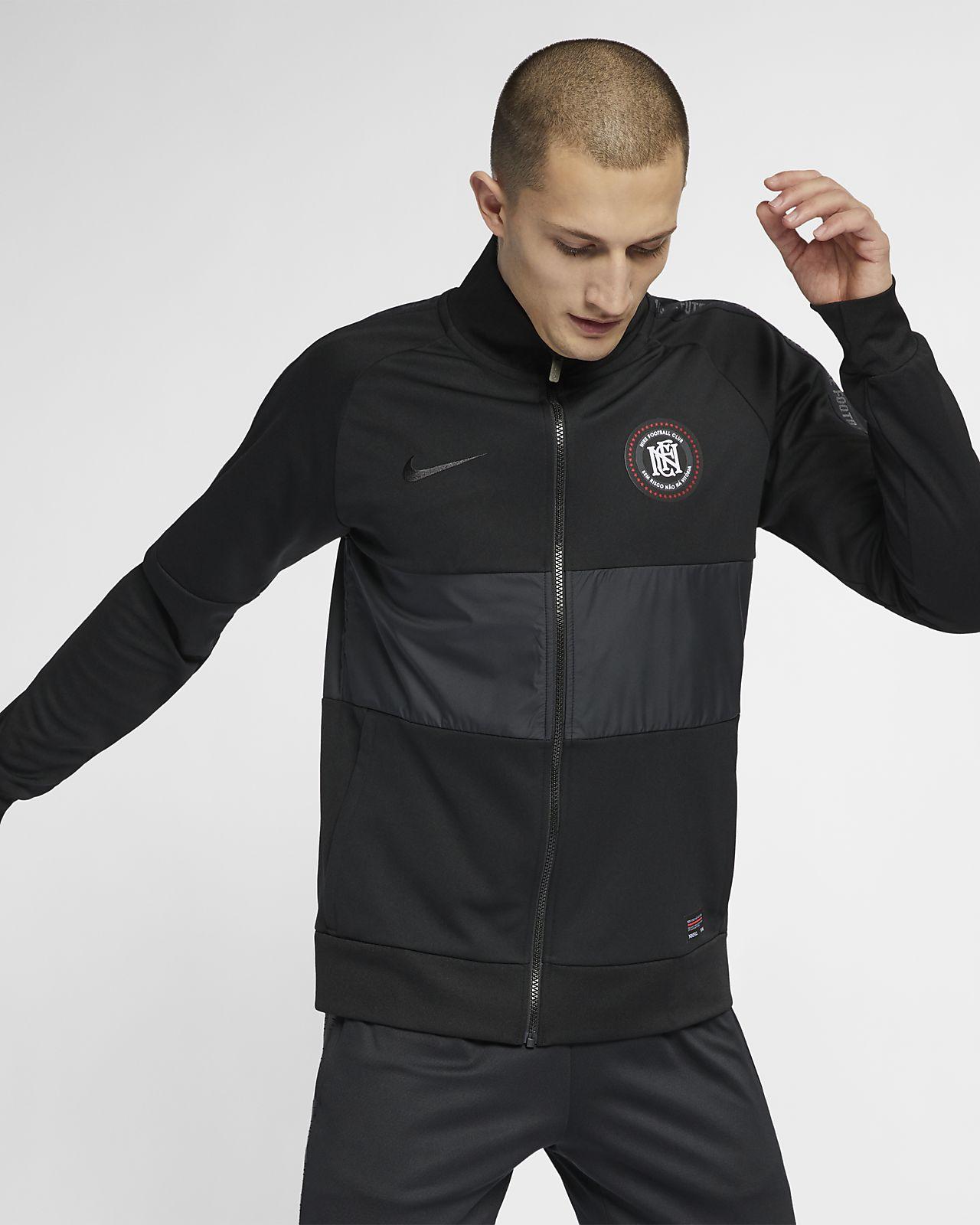 Details zu Nike F.C. Fußball Track Jacket Herren AH9519 010 Trikot Schwarz Jacke Neu Gr.M