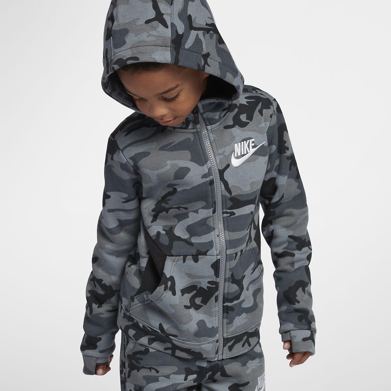 Μπλούζα με κουκούλα Nike Sportswear Club Fleece για μικρά παιδιά