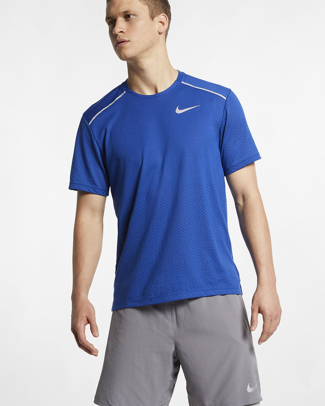 Prenda para la parte superior de running de manga corta para hombre Nike Rise 365
