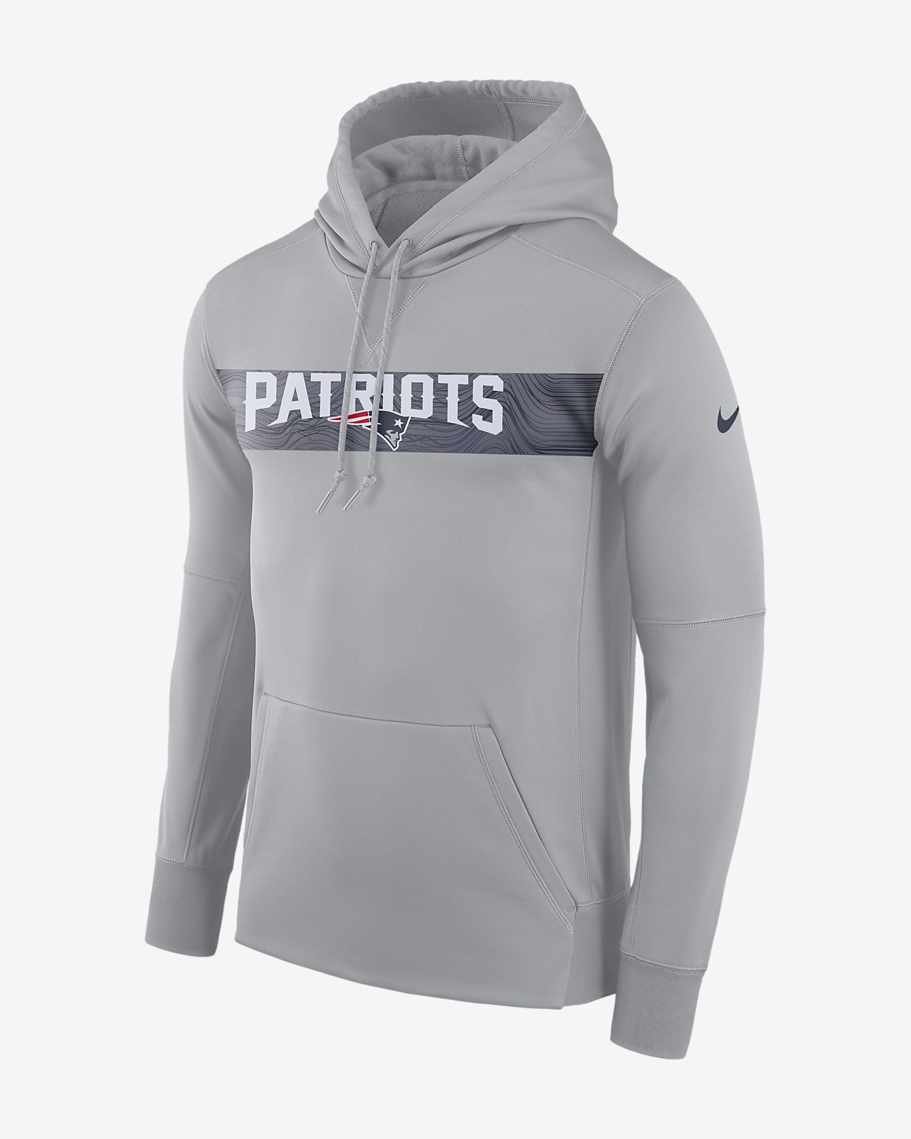 Nike Dri-FIT Therma (NFL Patriots) Men's Pullover Hoodie