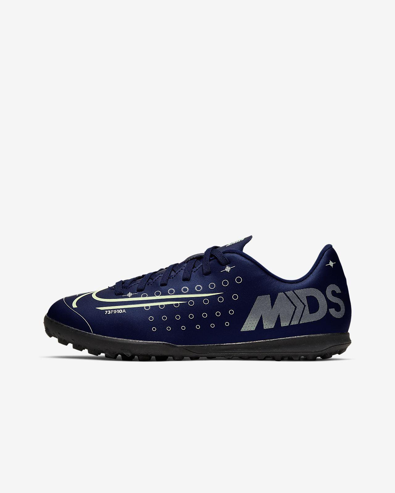 Buty piłkarskie na sztuczną nawierzchnię typu turf dla małych/dużych dzieci Nike Jr. Mercurial Vapor 13 Club MDS TF