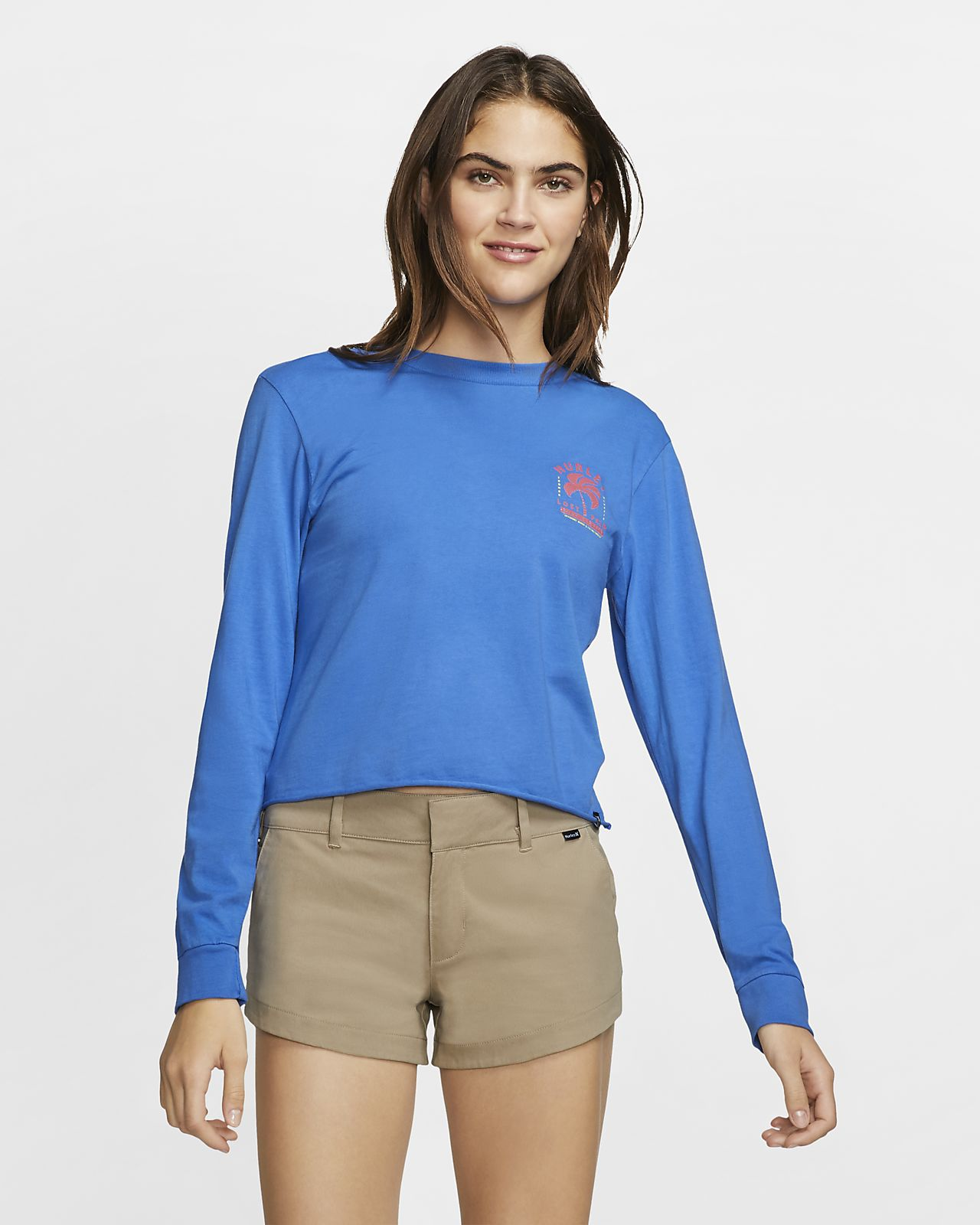 Hurley Palms Away Women's Long-Sleeve Top
