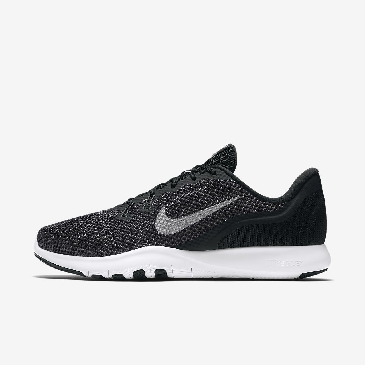 Nike Flex Run Chaussures De Formation De La Femme - Noir / Blanc