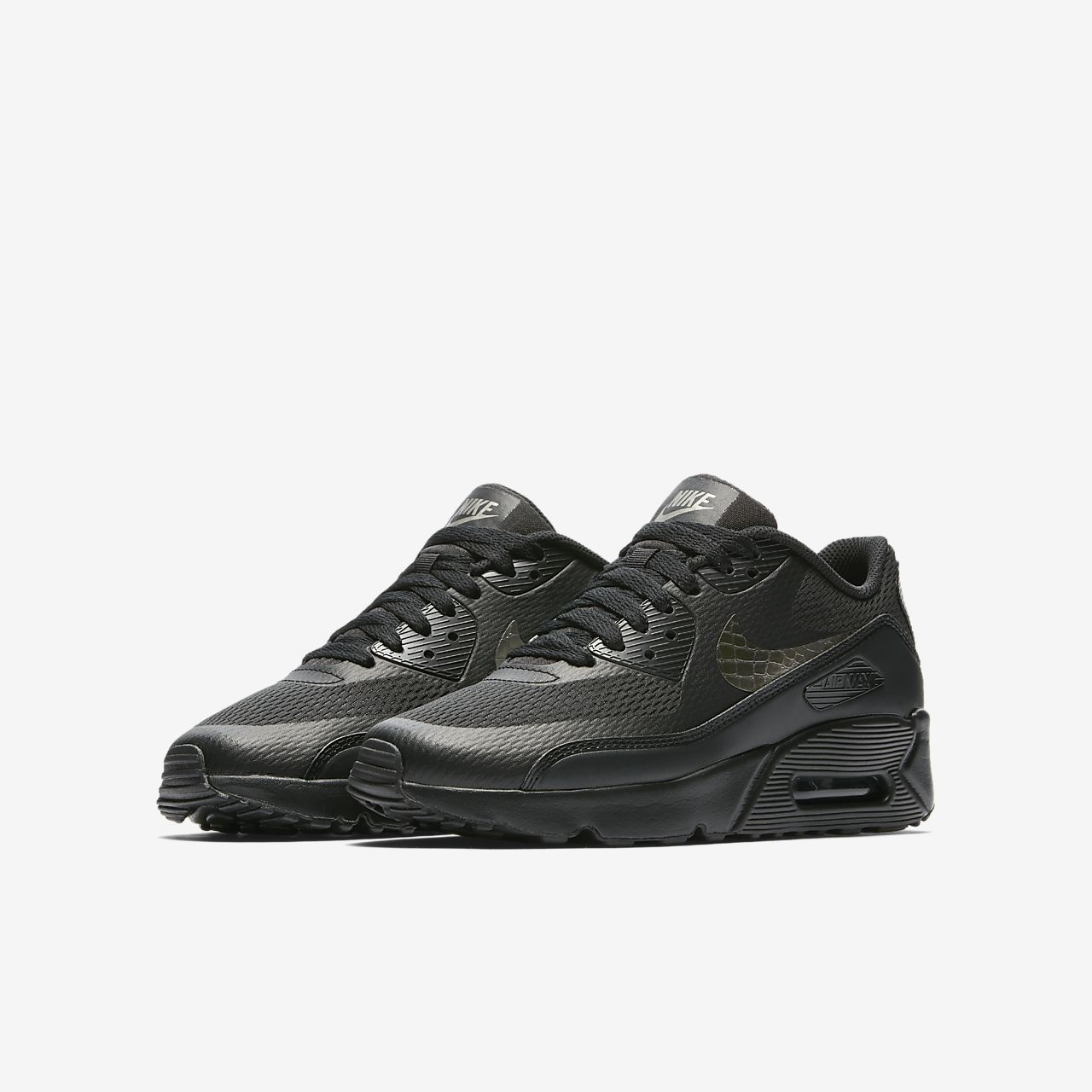 nike air max 90 ultra se trainers in black and pewter