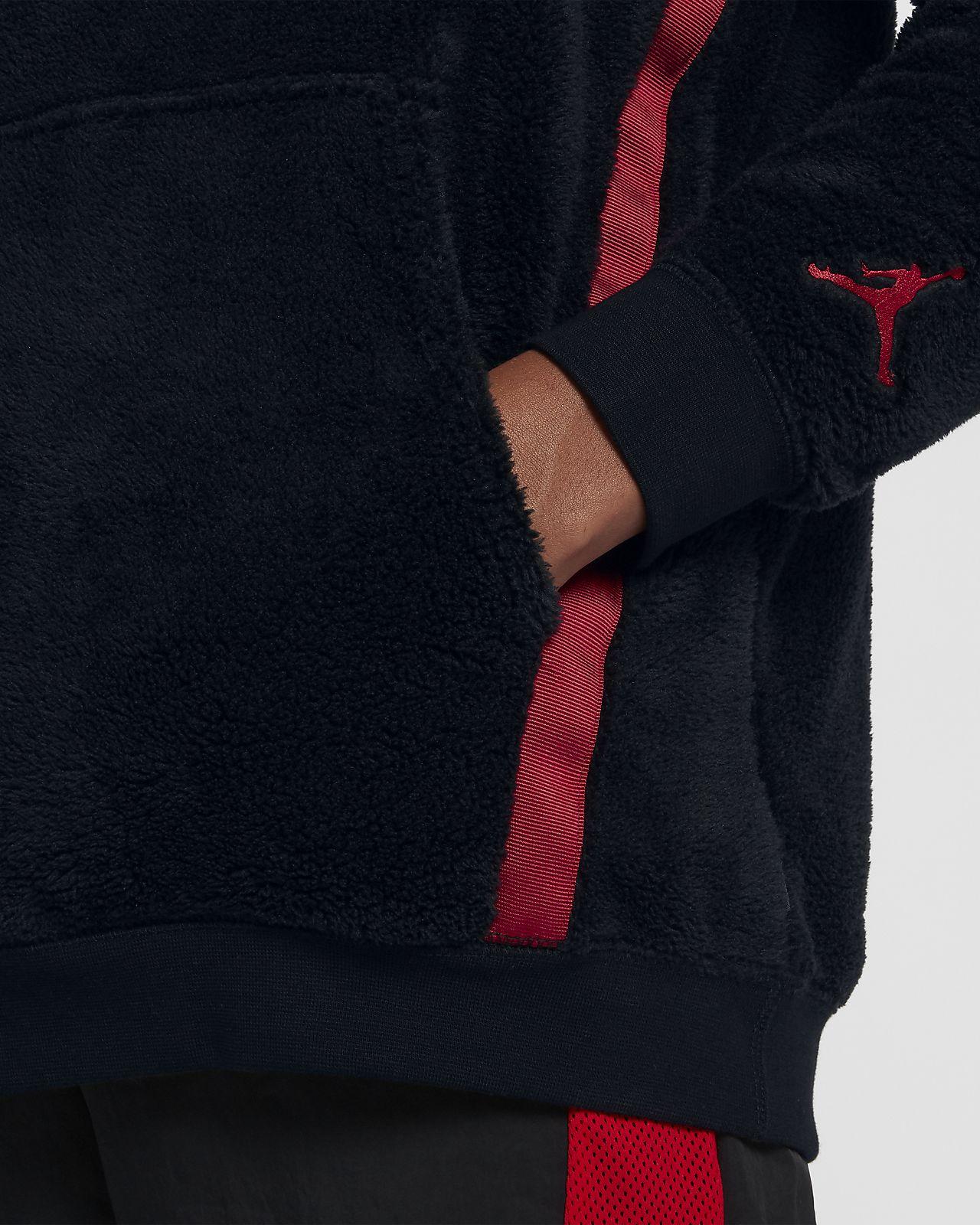 ... kapucnis Sherpa férfipulóver Jordan Sportswear Wings of Flight  belebújós 96225413c0
