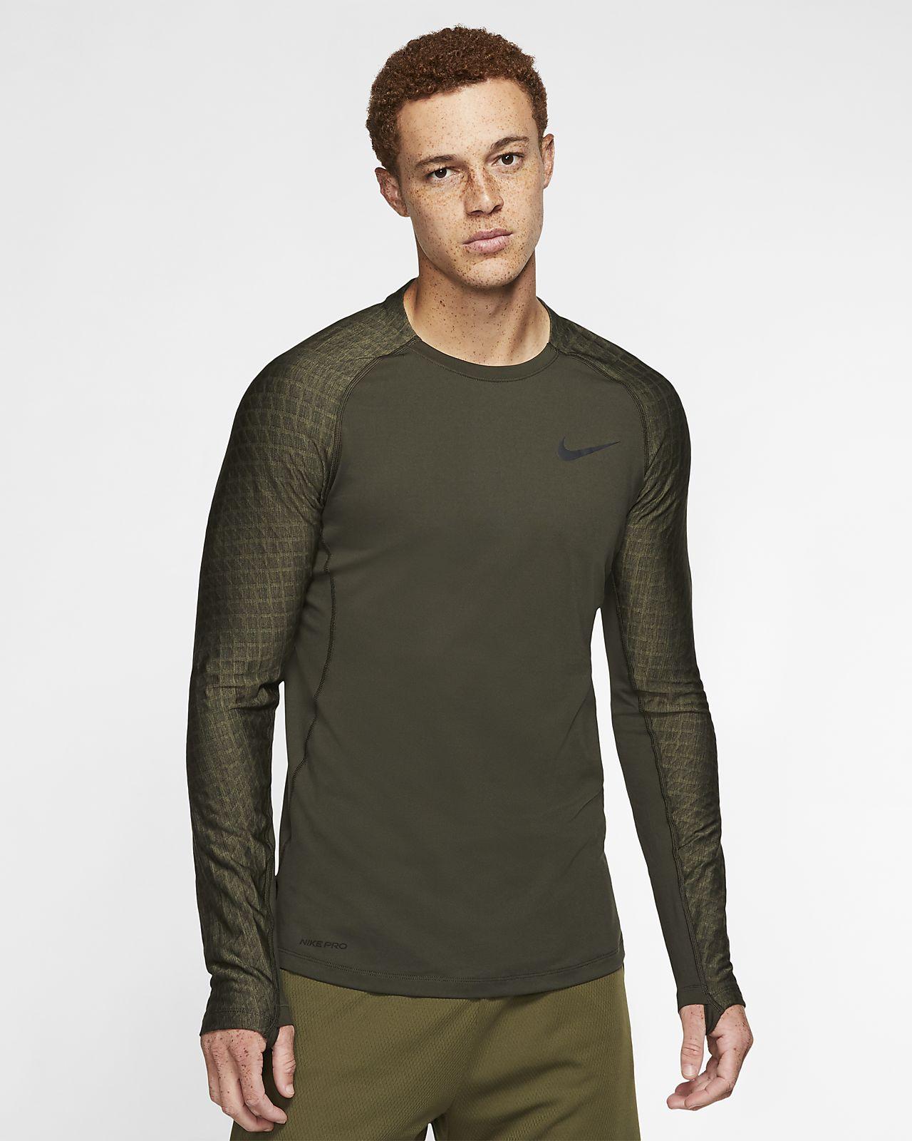 Nike Pro langermet treningsoverdel til herre