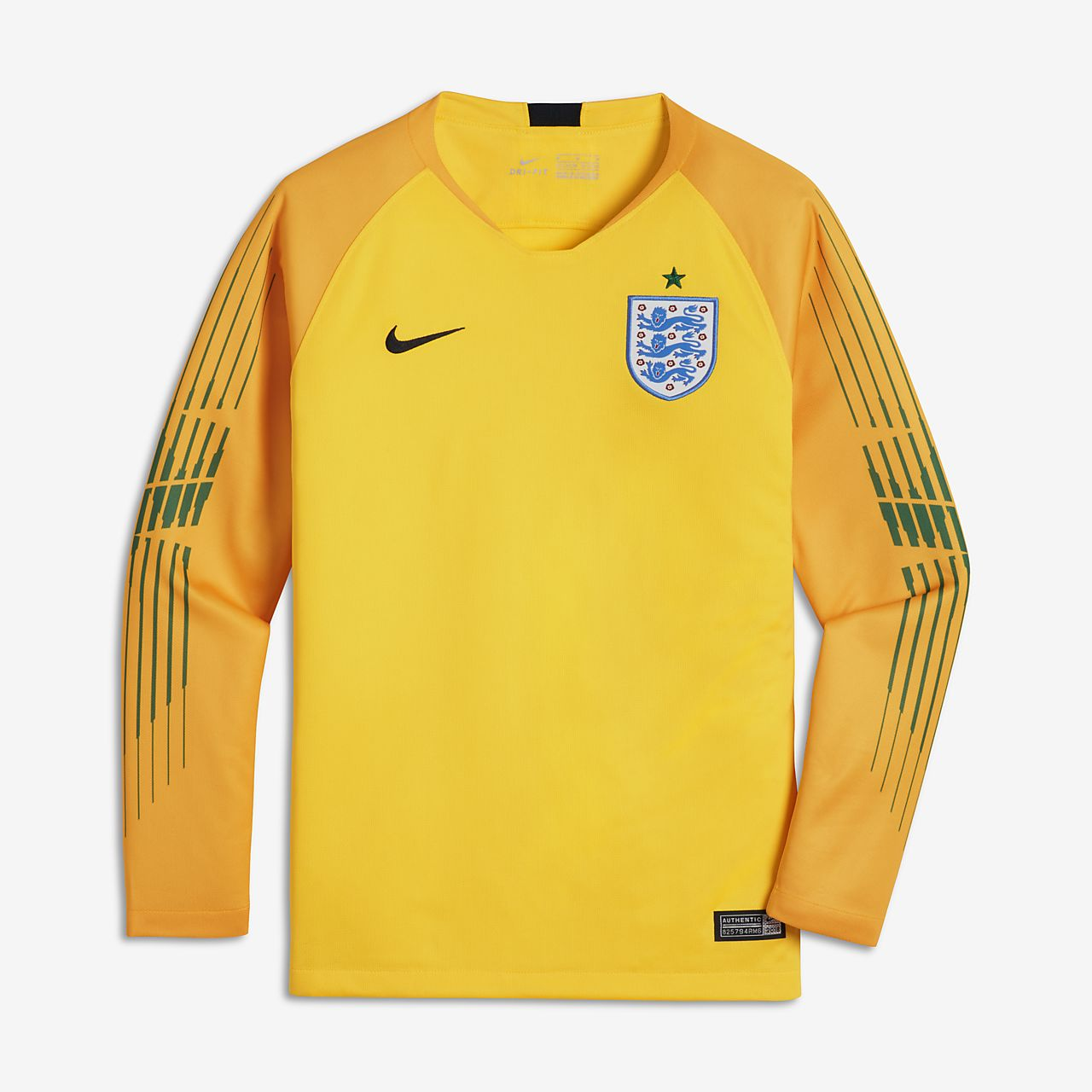 d76eb8b3d468 Older Kids  Long-Sleeve Football Shirt. 2018 England Stadium Goalkeeper