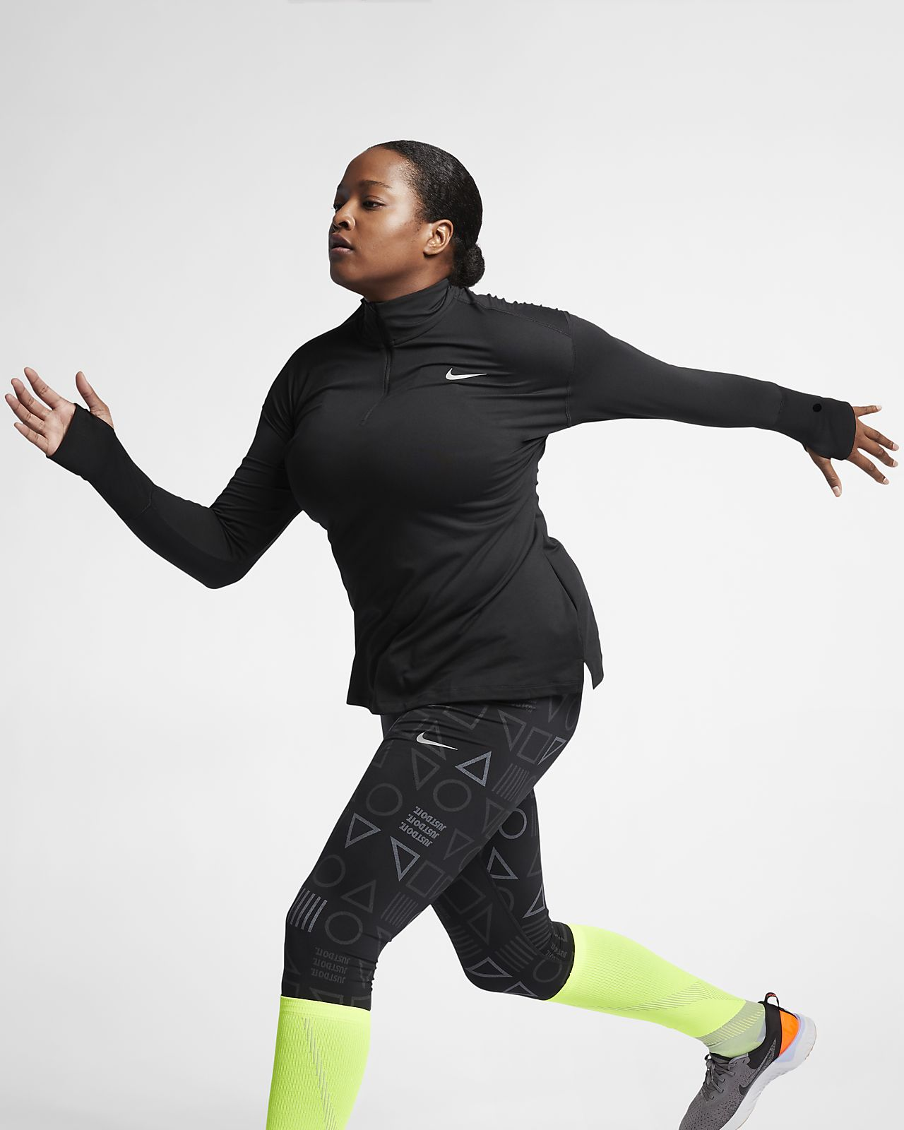 Nike Element (Plus Size) Women's Half-Zip Running Top