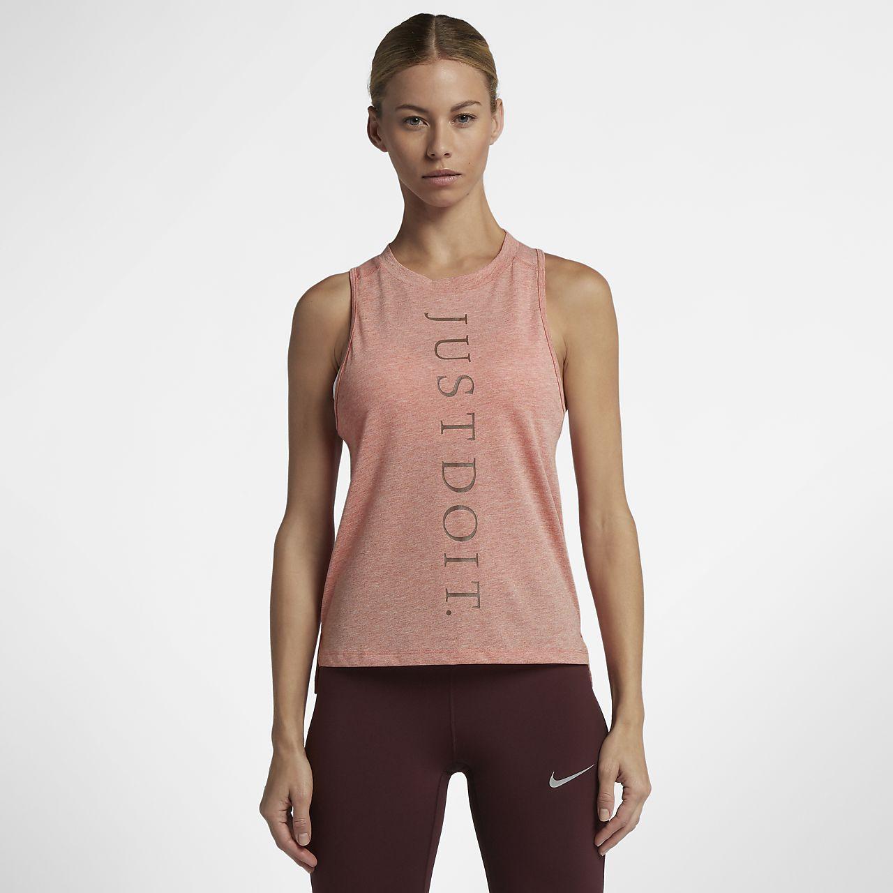 encontrar mano de obra buena calidad al por mayor Camiseta de tirantes de running para mujer Nike Miler Just Do It