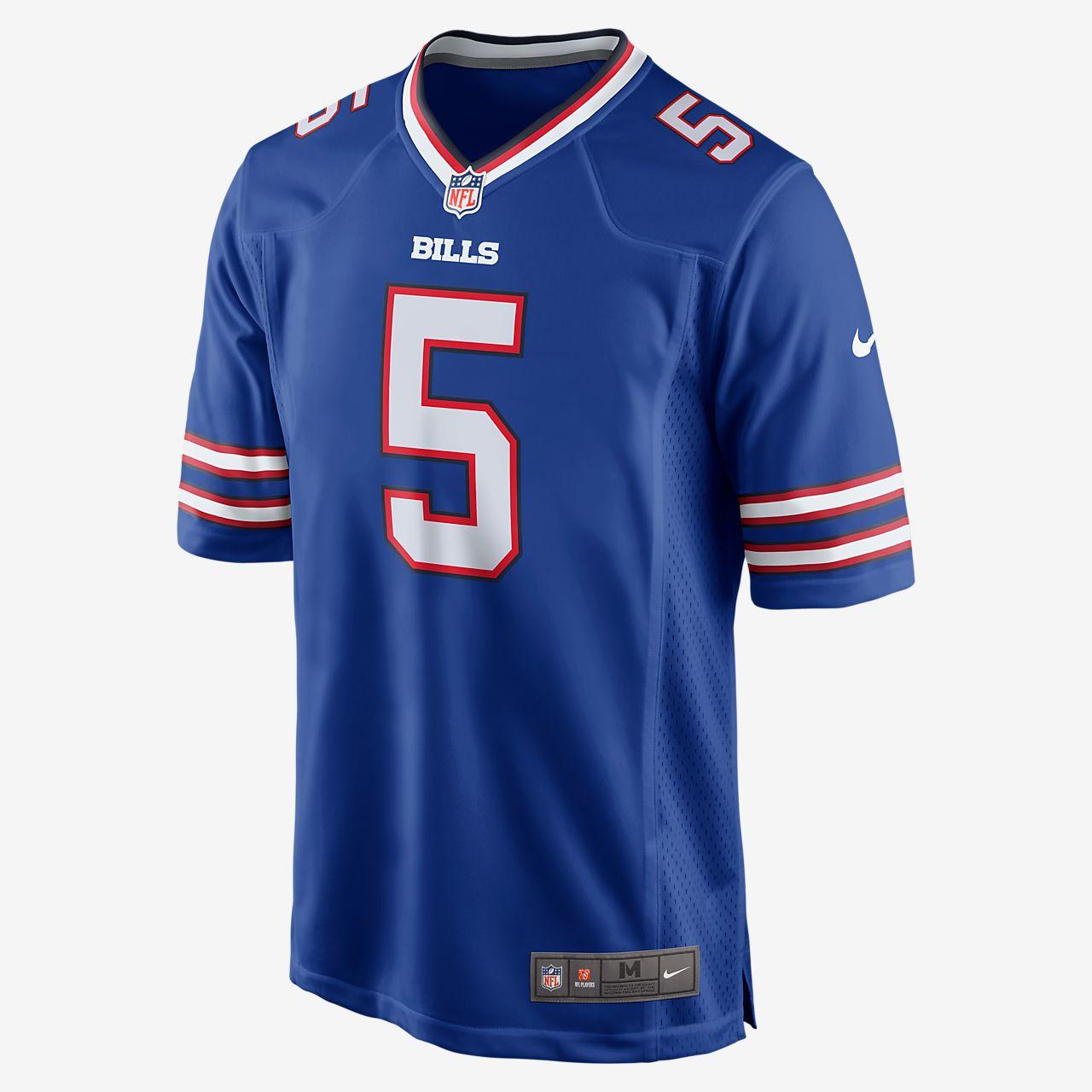 NFL Buffalo Bills American Football Game (Tyrod Taylor) Men's American Football Jersey