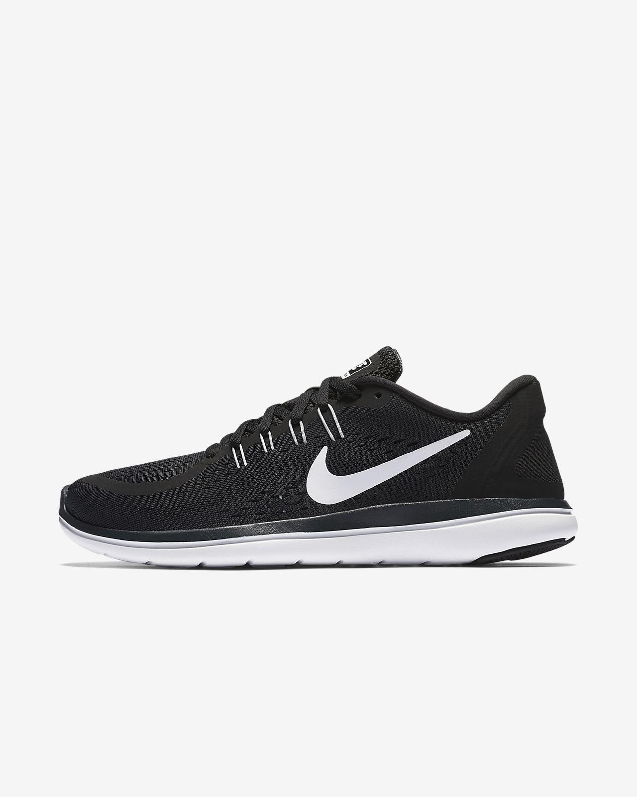 Women's Nike Flex 2017 RN Running Black/White/Anthracite/Wolf Grey 898476 001