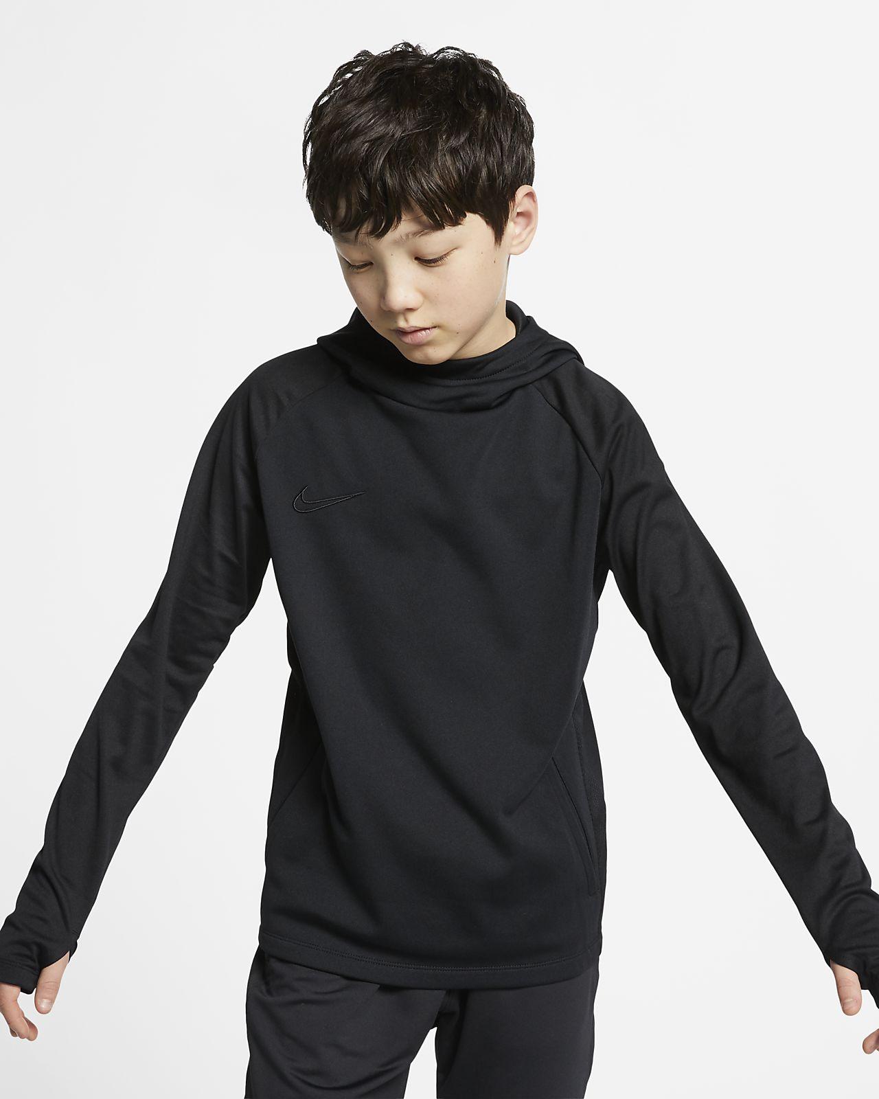 Ποδοσφαιρική μπλούζα με κουκούλα Nike Dri-FIT Academy για μεγάλα παιδιά