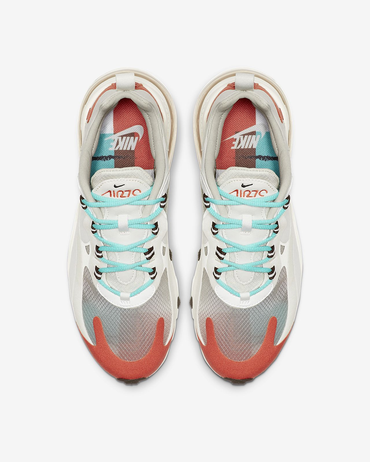 Nike Air Max 270 React Light Beige Chalk Size 6 7 8 9 Womens
