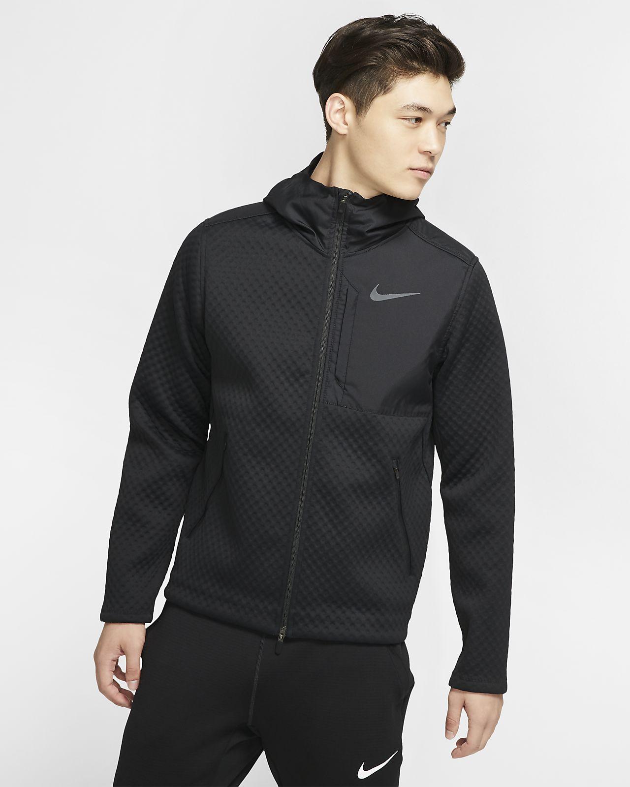 Pánská tréninková bunda Nike Therma s kapucí a zipem po celé délce