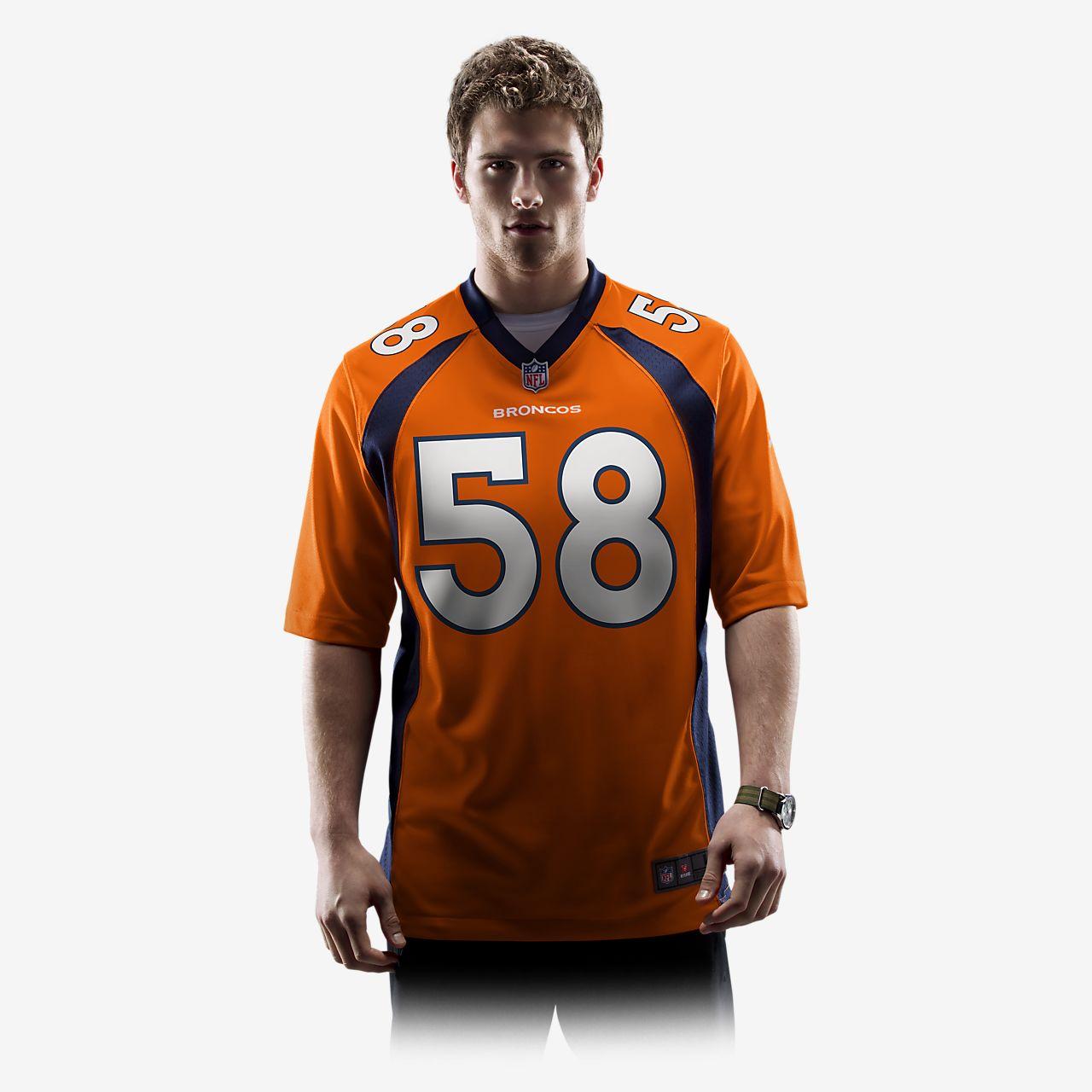 866383a83 NFL Denver Broncos (Von Miller) Men s Football Home Game Jersey ...